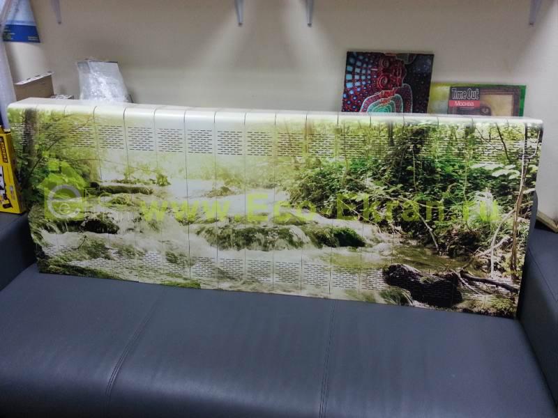 экраны для батареи с фотопечатью дерево использовали